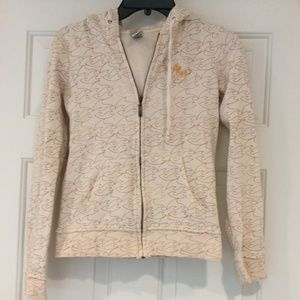 Billabong Hoodie Sweatshirt Zip Up Womens Size S